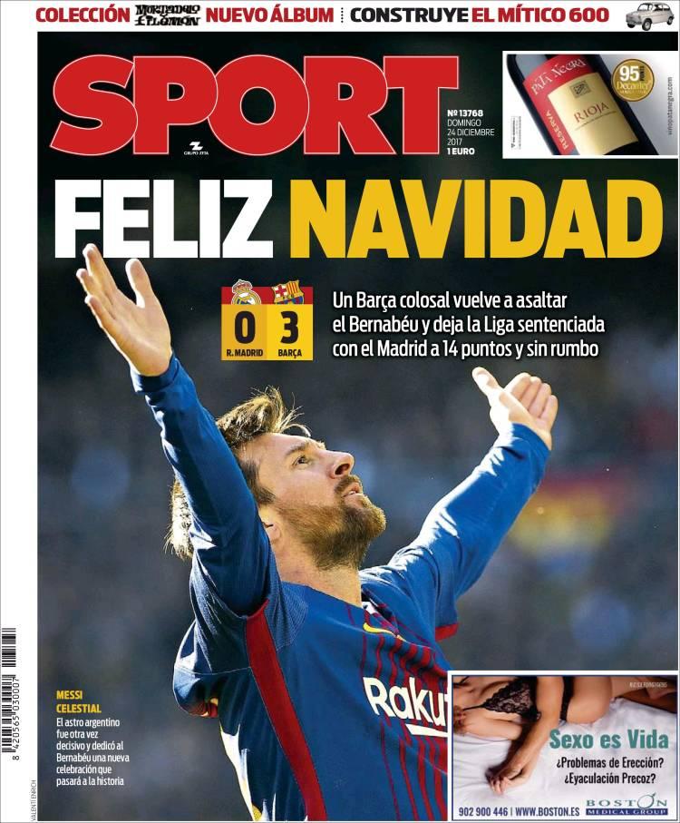 Sport Portada postclásico 24.12.17