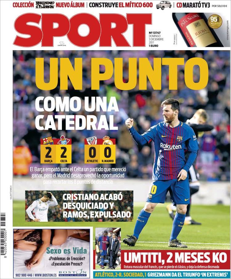 Sport Portada Punto 03.12.17