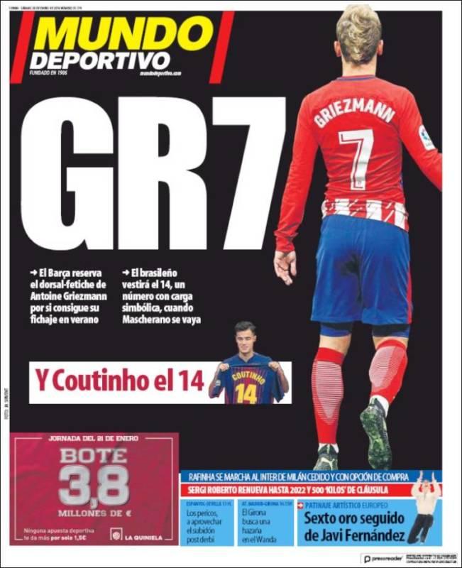 Mundo Deportivo Portada GR7 20.01.18