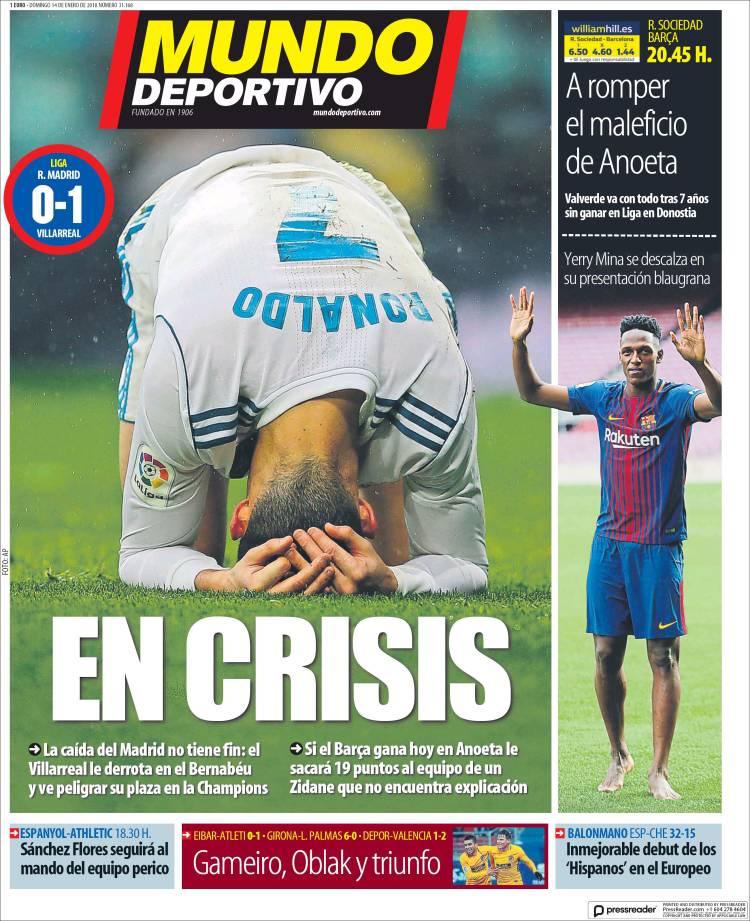 Mundo Deportivo Portada Crisis 14.01.18