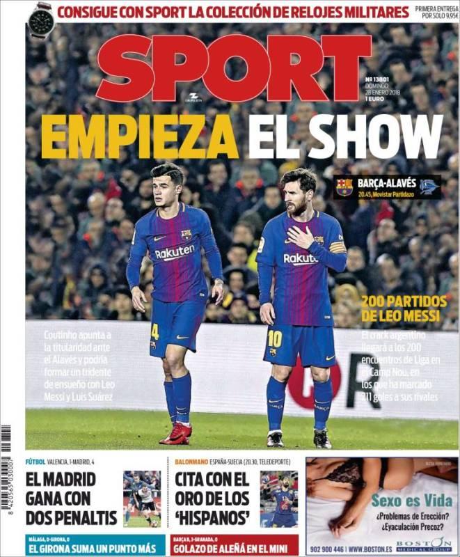 Sport Portada Show 28.01.18