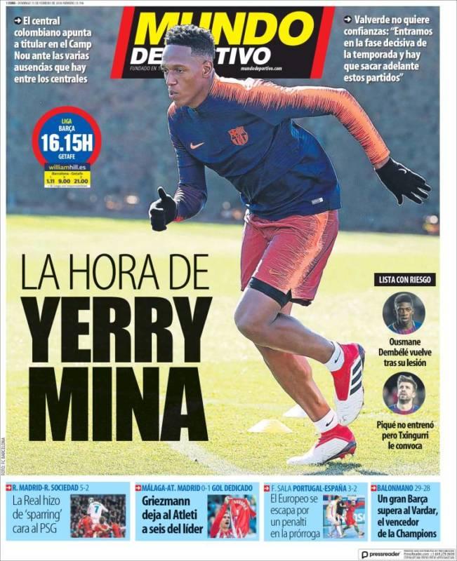 Mundo Deportivo Yerry Mina 11.02.18