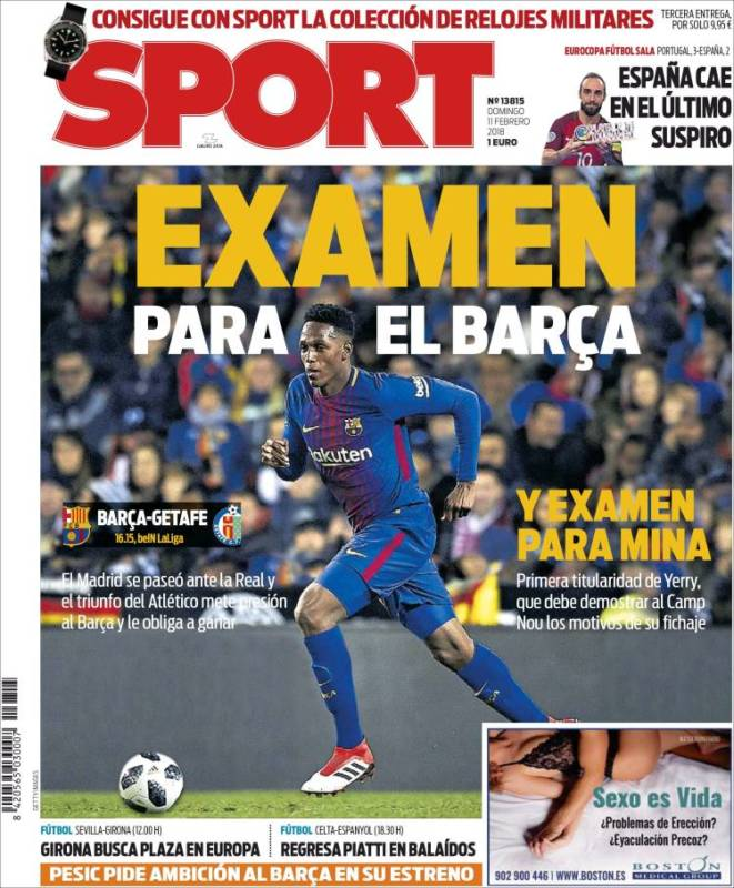 Sport Portada Examen 11.02.18