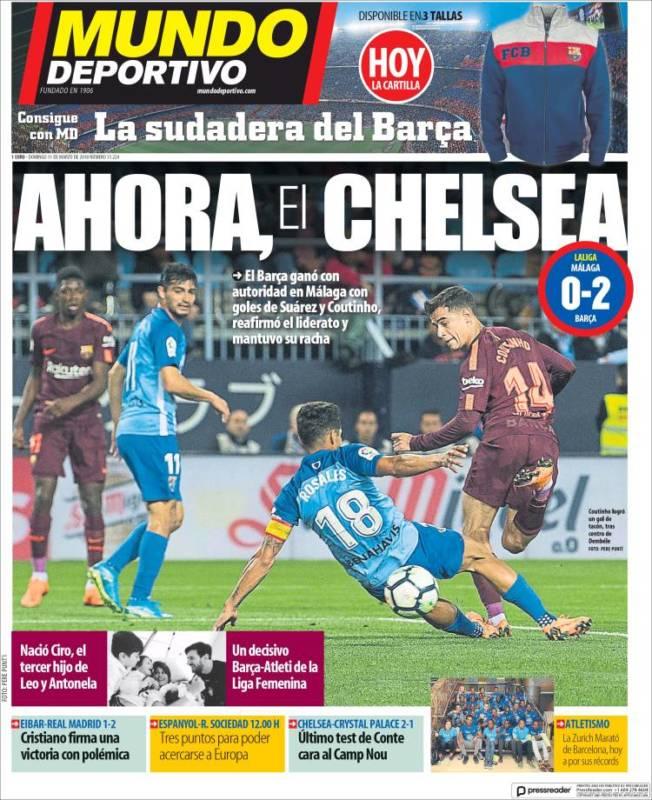 Mundo Deportivo Portada Chelsea 11.03.18