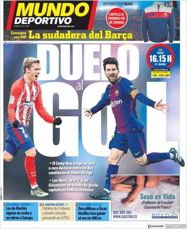 Mundo Deportivo Portada Duelo 04.03.18