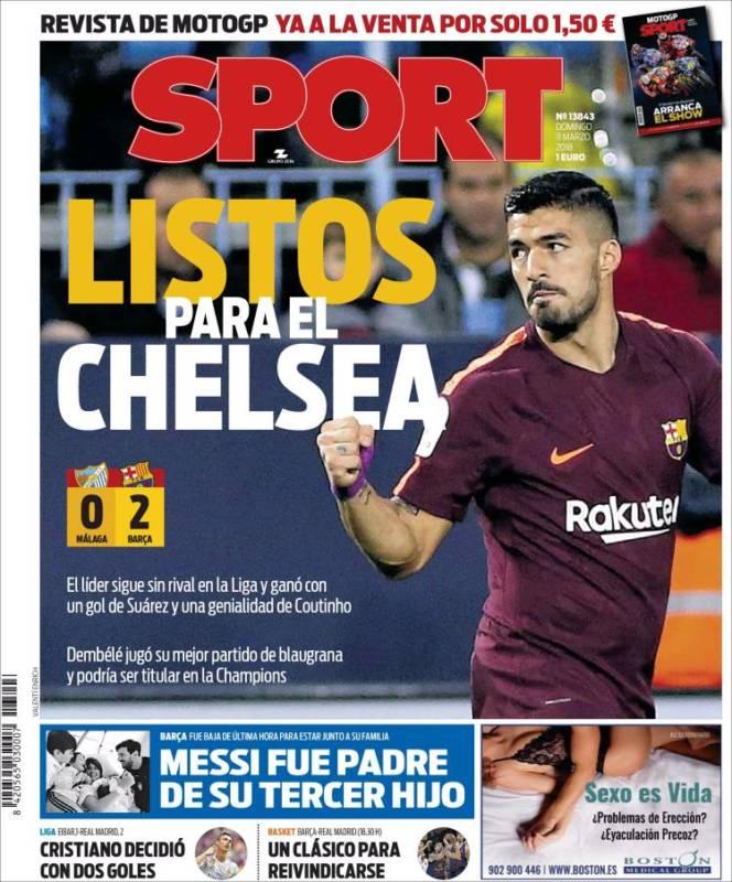 Sport Portada Chelsea 11.03.18