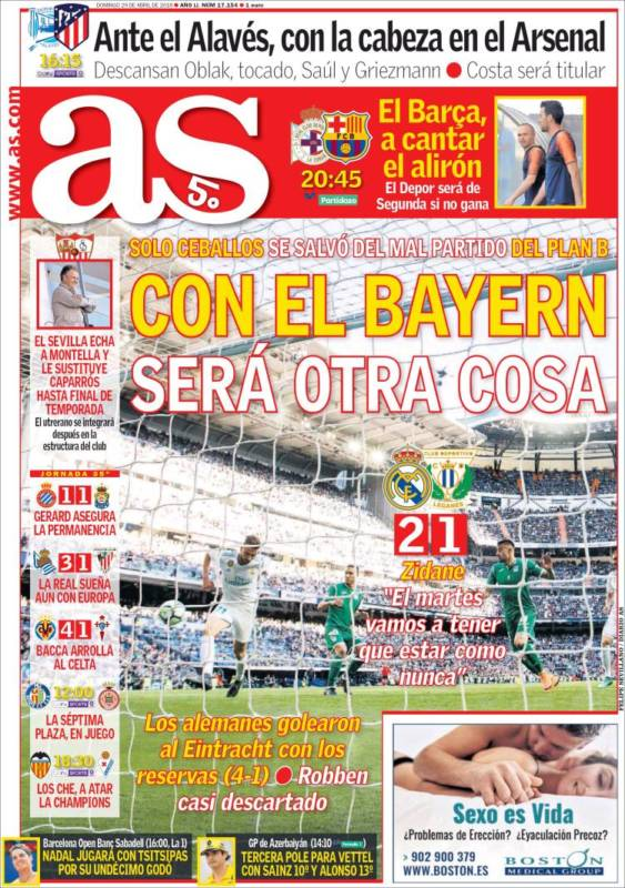 As Portada Bayern 29.04.18