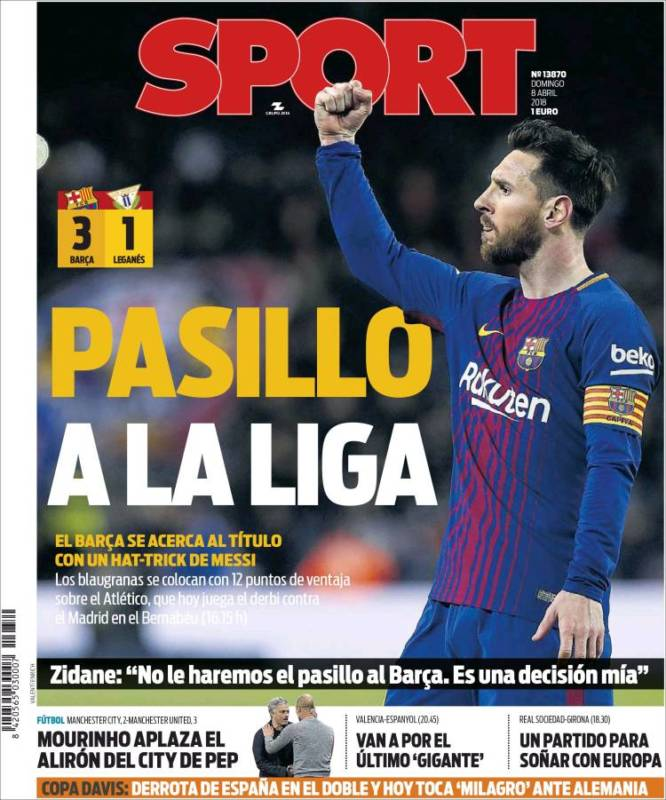 Sport Portada Pasillo 08.04.18
