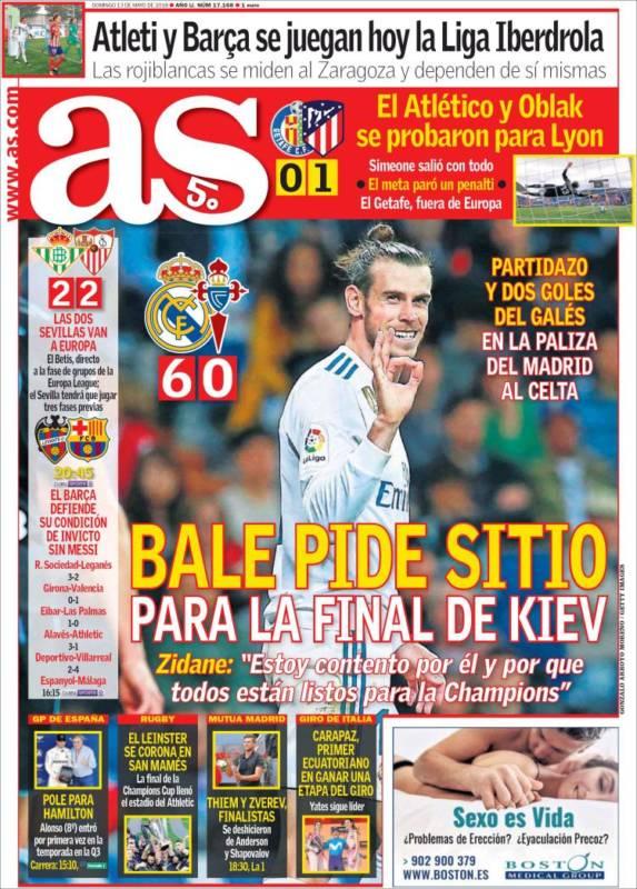 As Portada Bale Celta 13.05.18