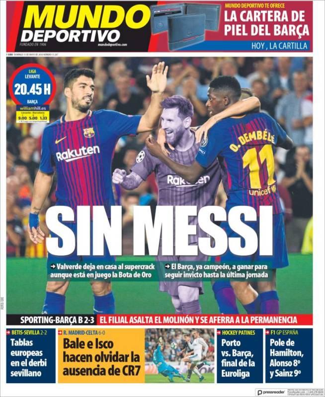 Mundo Deportivo Sin Messi 13.05.18