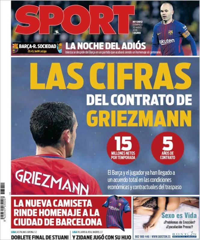 Sport Portada Griezmann 20.05.18