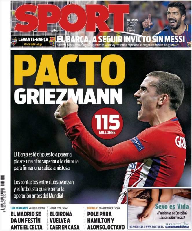 Sport Portada Griezmann 13.05.18