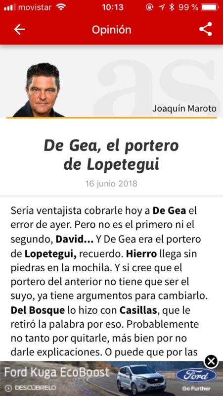 Maroto De Gea Lopetegui