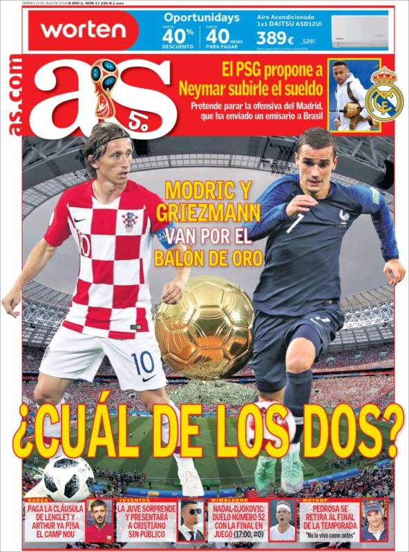 As Portada Balón de Oro 13.07.18