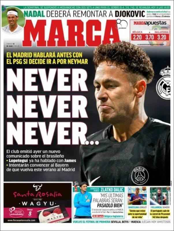 Marca Portada Neymar 14.07.18