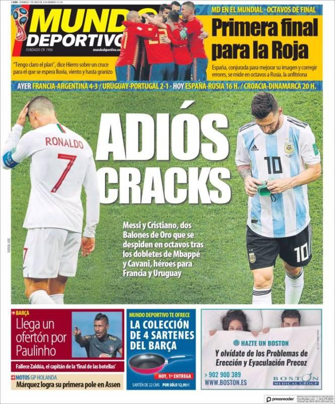 Mundo Deportivo Portada 01.07.18