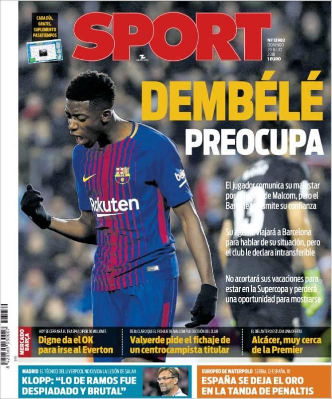 Sport Portada Dembélé 29.07.18
