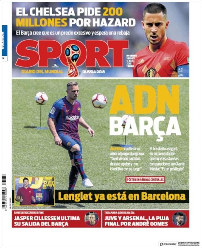 Sport Portada Arthur 13.07.18