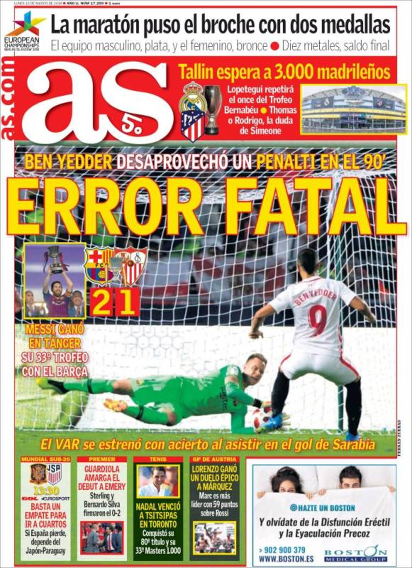 As Portada Error fatal 13.08.18
