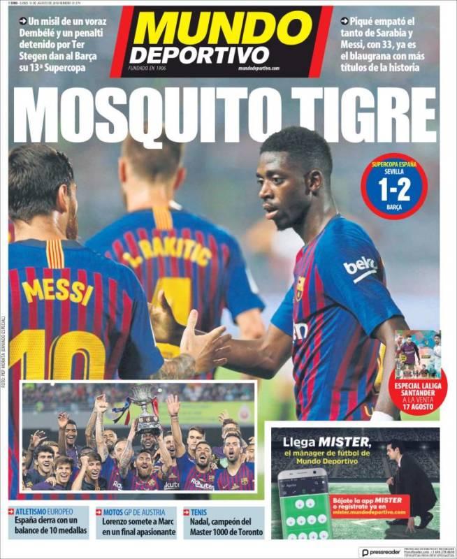 Mundo Deportivo Portada Mosquito tigre 13.08.18