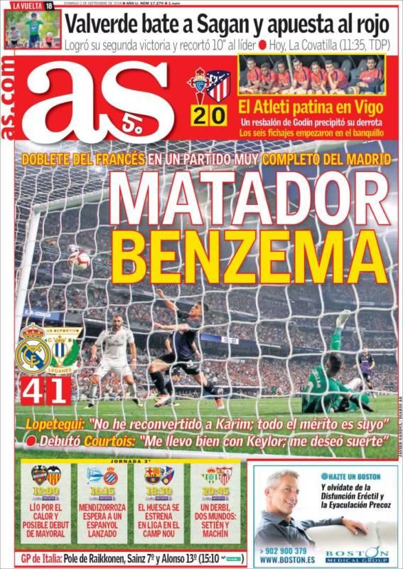 As Portada Benzema 02.09.18