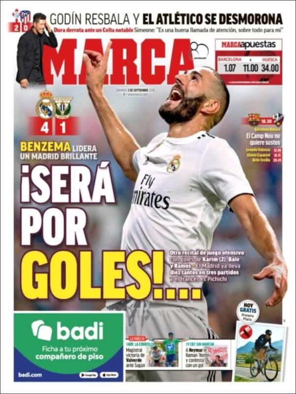 Marca Portada Benzema 02.09.18