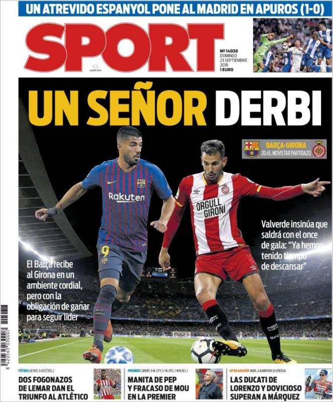 Sport Portada Derbi 23.09.18