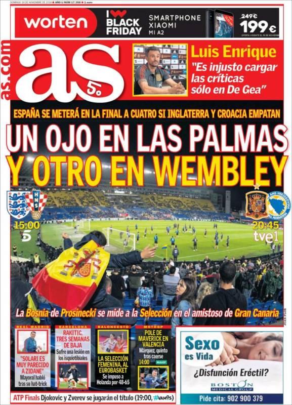 As Portada España 18.11.18