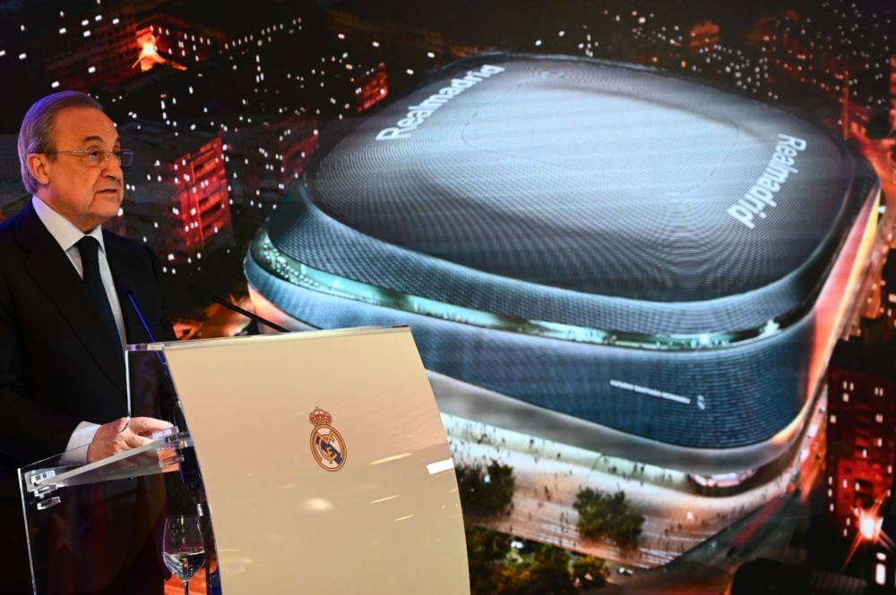 Florentino Pérez en la presentación del Nuevo Bernabéu