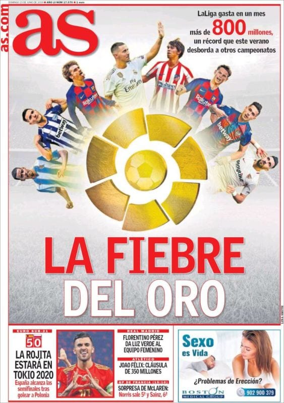 As Portada Fiebre Oro 23.06.19
