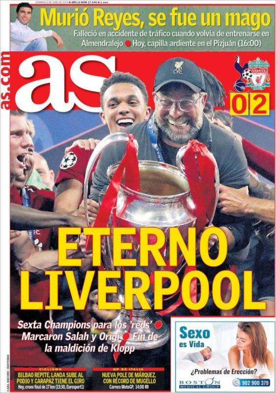 As Portada Liverpool 02.06.19