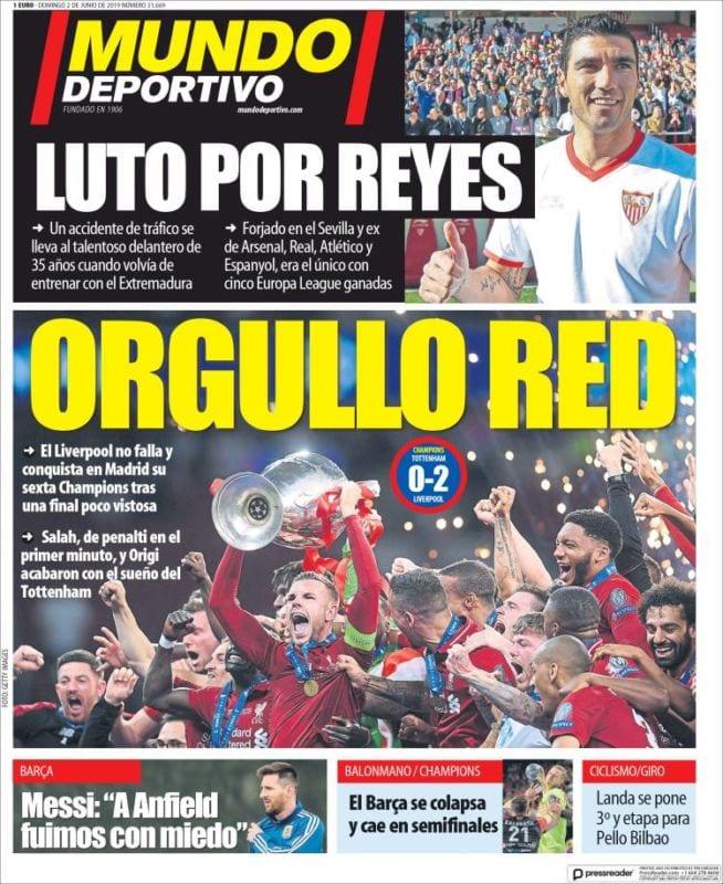 Mundo Deportivo Portada Liverpool 02.06.19