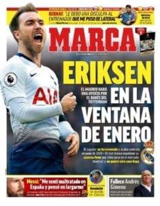Eriksen al Real Madrid en invierno