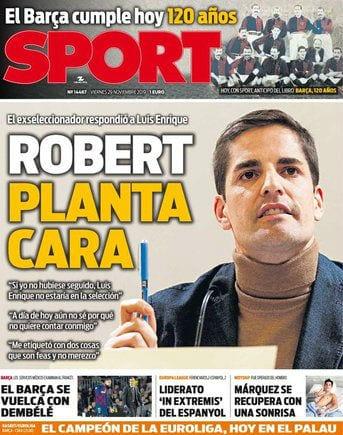 Portada Sport Robert Moreno y Luis Enrique