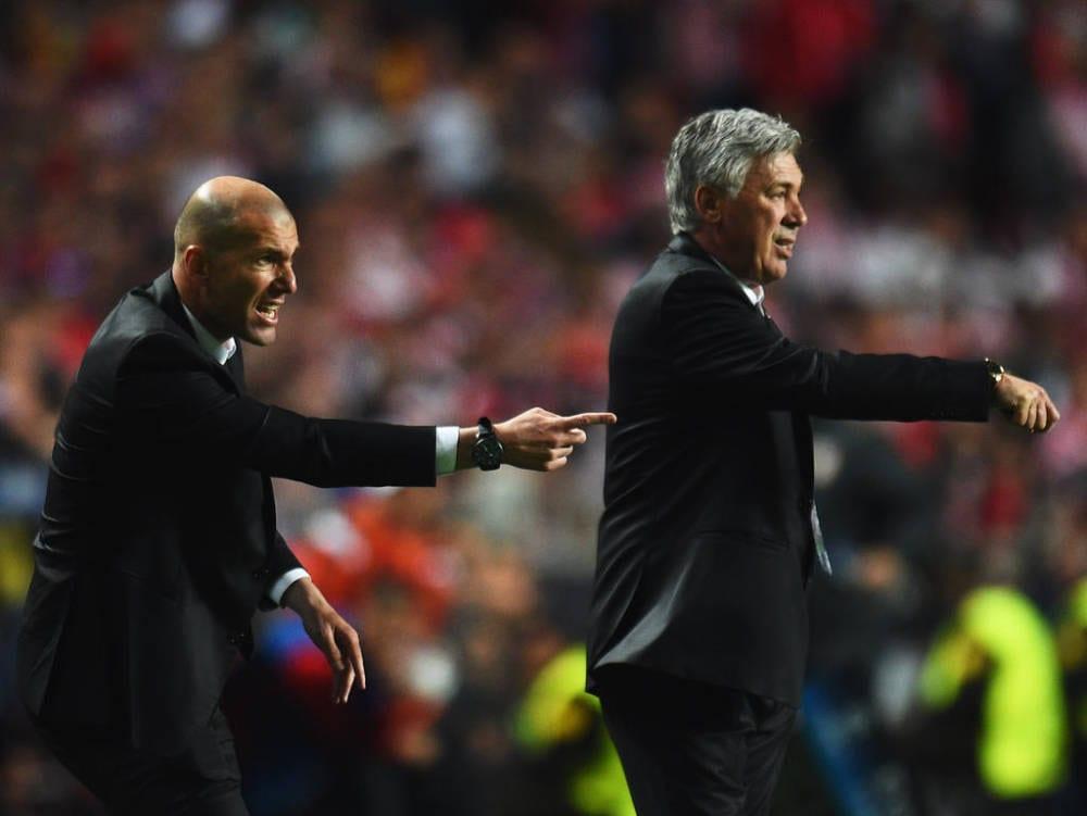 Zidane asistente de Ancelotti