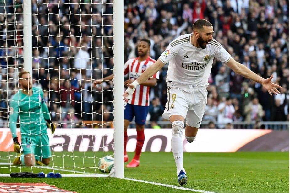 Benzema contra Atlético de Madrid