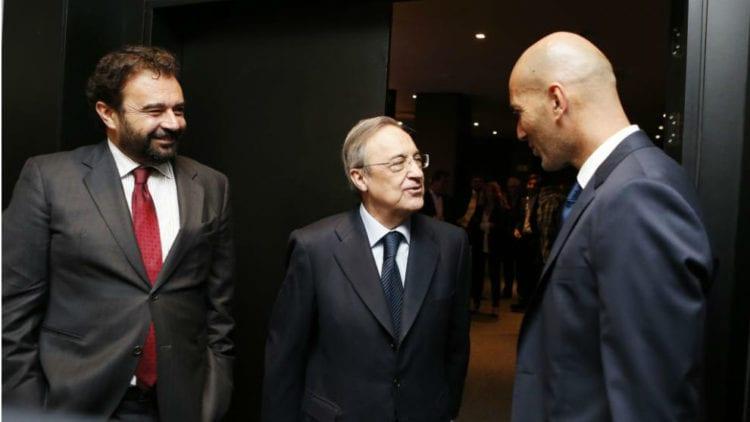 José Ángel Sánchez, Florentino y Zidane