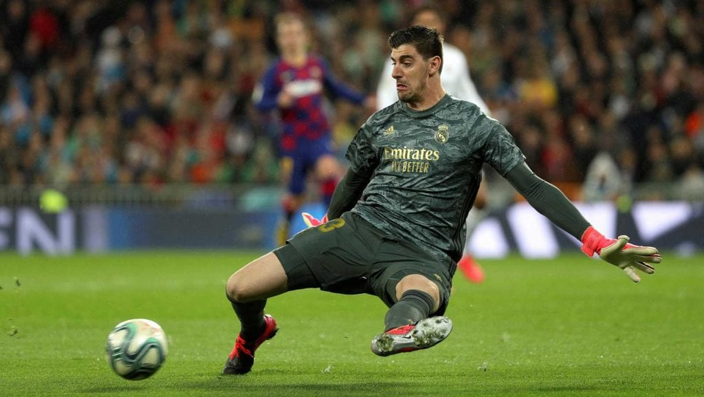 Courtois contra el Barça