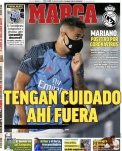 Mariano Díaz protagonista de la portada de MARCA: Tengan cuidado ahí fuera