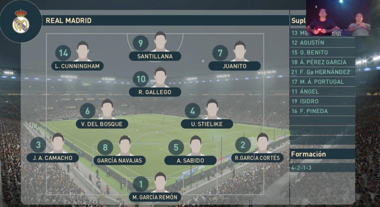 Real Madrid alineación