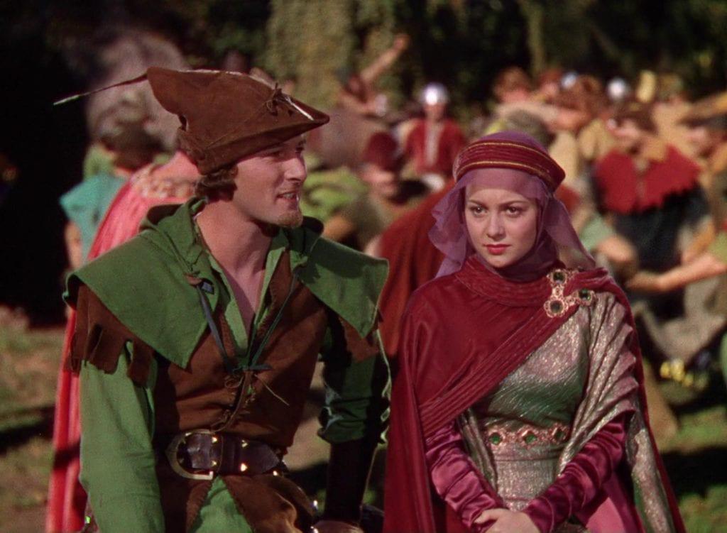 Olivia de Havilland con Errol Flynn