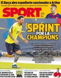 El FCBarcelona prepara la vuelta de la Champions
