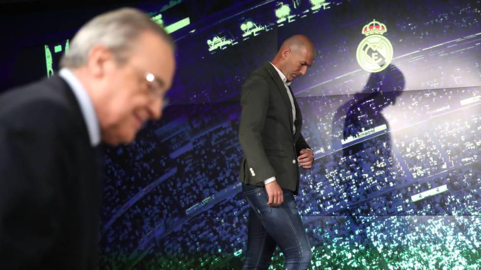 Presentación de Zidane.