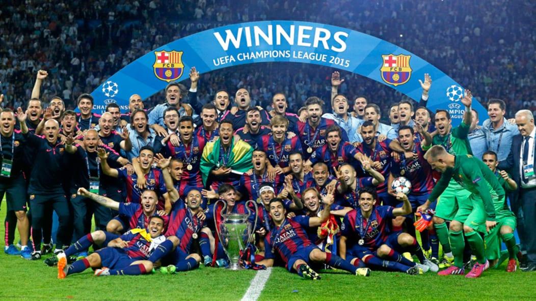 El FC Barcelona Campeón de Europa en 2015.
