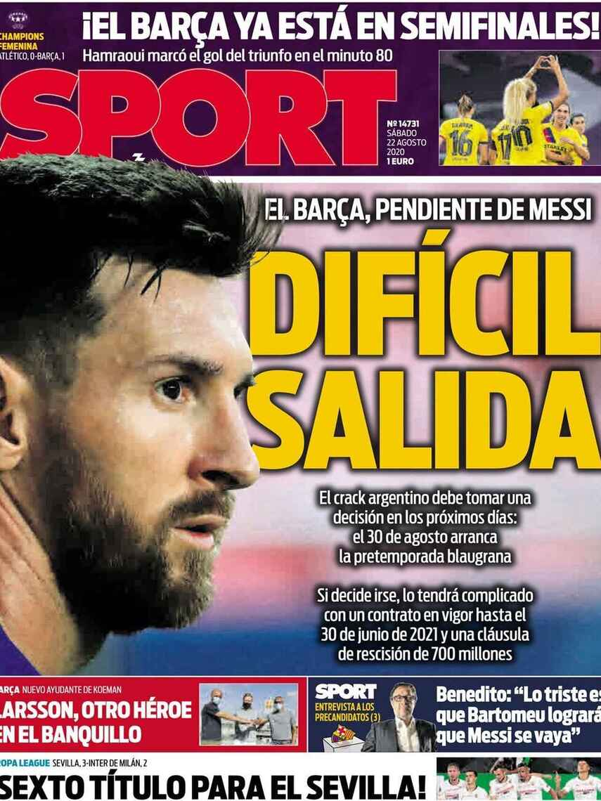Portada Sport Messi