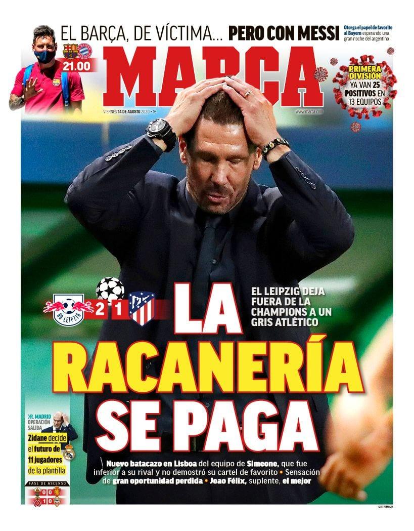 Portada del diario Marca.