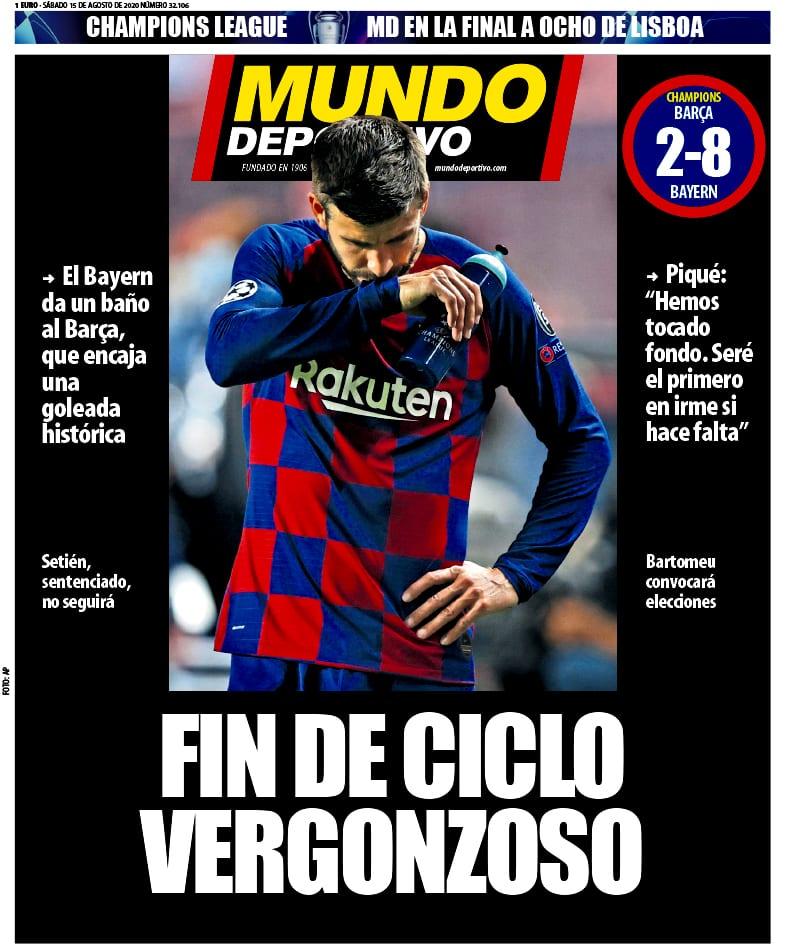 Portada de Mundo Deportivo.