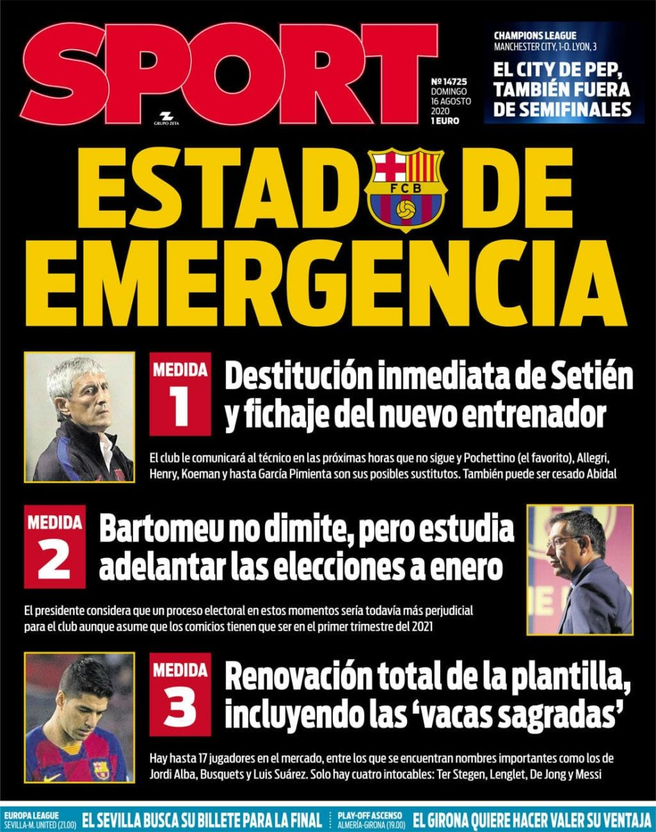 Portada de Sport.