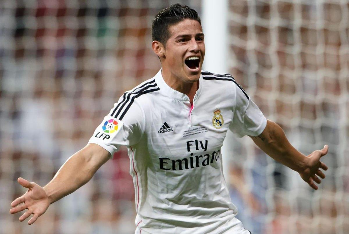 James celebra gol