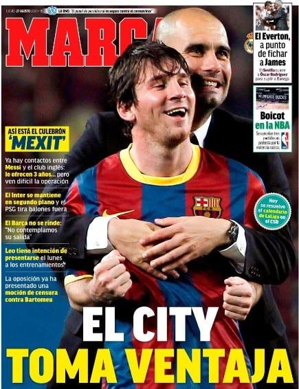 Portada Marca Messi Guardiola